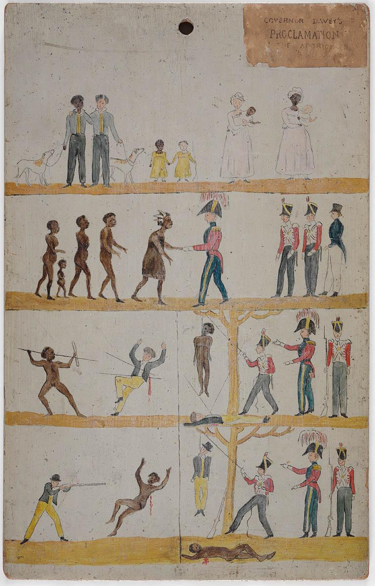Плакат вышедший в Земле Ван-Димена (Тасмания) во время Черной войны.jpg
